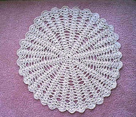 White Shabby Chic Crocheted Doilies